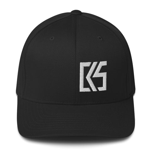 CK5 3D Puff Embroidered Edge Structured Twill Cap