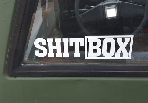 SHIT BOX cut vinyl sticker