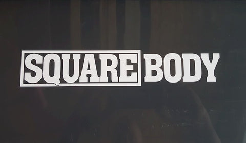 SQUARE BODY Cut Vinyl Sticker
