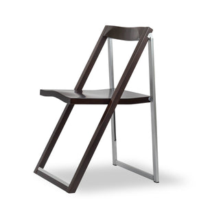 Reston-modern-space-saving-folding-italian-designer-brown-wood-chrome-chair