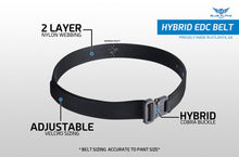 Load image into Gallery viewer, Blue Alpha Gear Hybrid 1.5 EDC Belt
