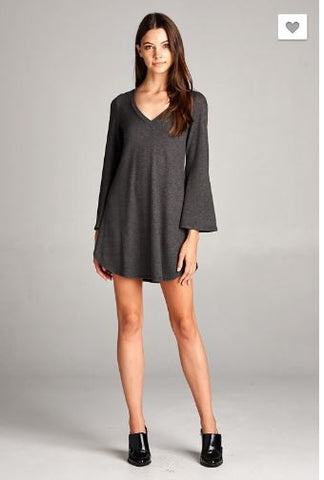 Bell Sleeves Hacci Sweater Dress
