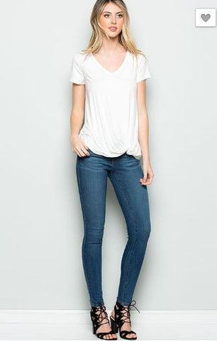 Side Knot Basic Tee