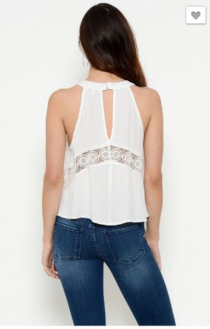 Top with Lace Panel