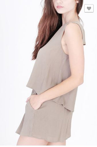 Back Cut Out Sleeveless Top