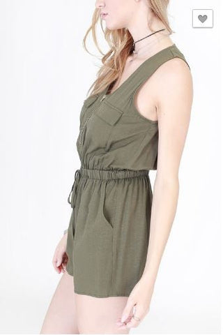 Sleeveless Utility Romper