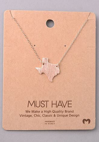 Must Have Texas State Necklace