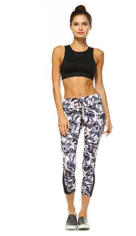 Abstract Paint Mesh Active Wear Leggings