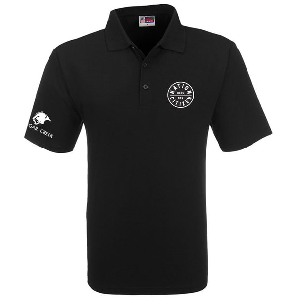 Oilersnation Golf Polo - Black