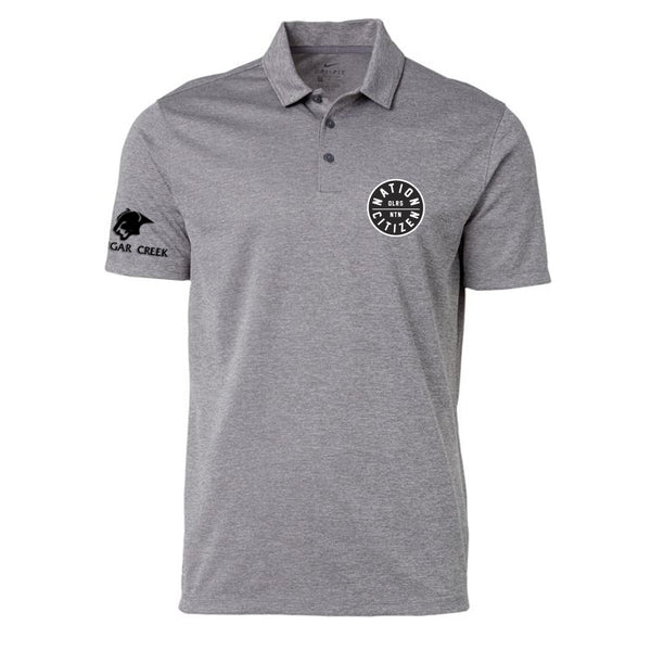 Oilersnation Golf Polo - Grey