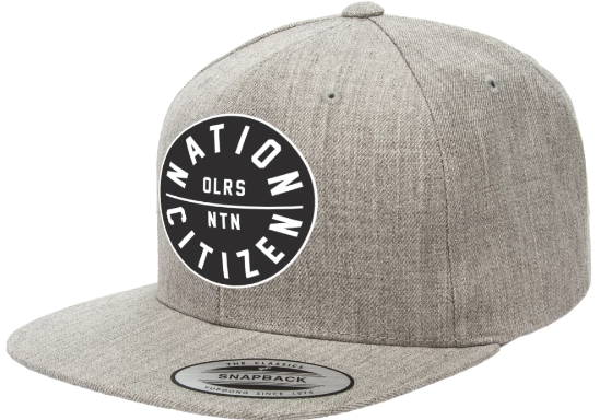 Nation Citizen Grey Snapback
