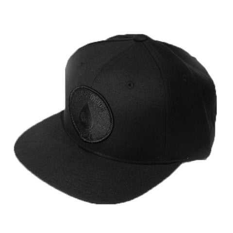 Blackout Oil Drop Snapback