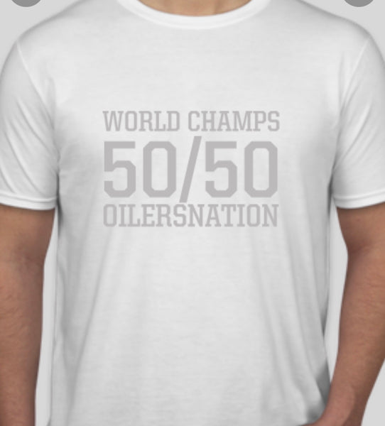 50/50 WORLD CHAMPS TEE