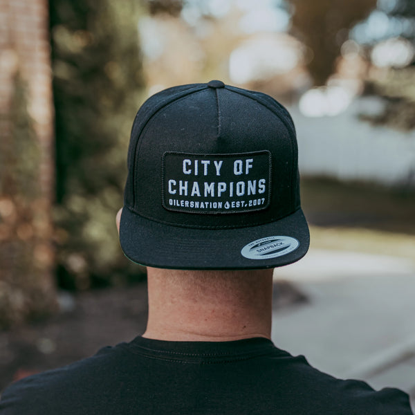 City Of Champions Black Snapback