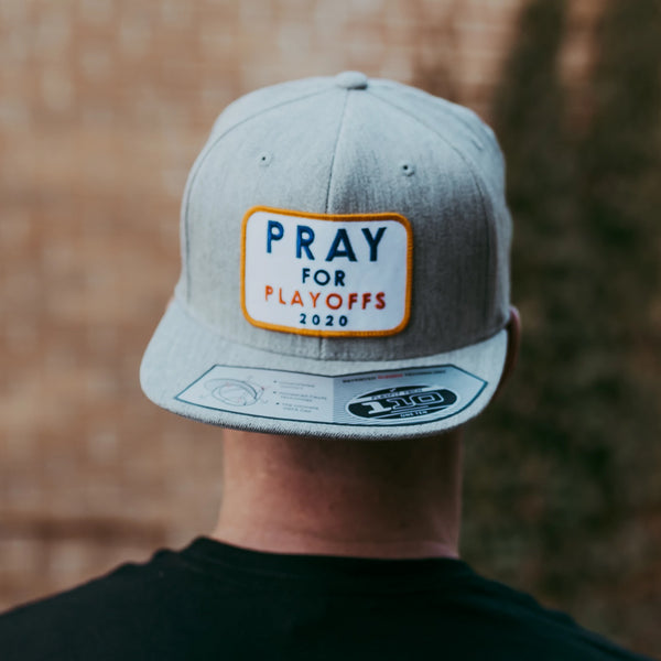 Pray for Playoffs Grey Snapback