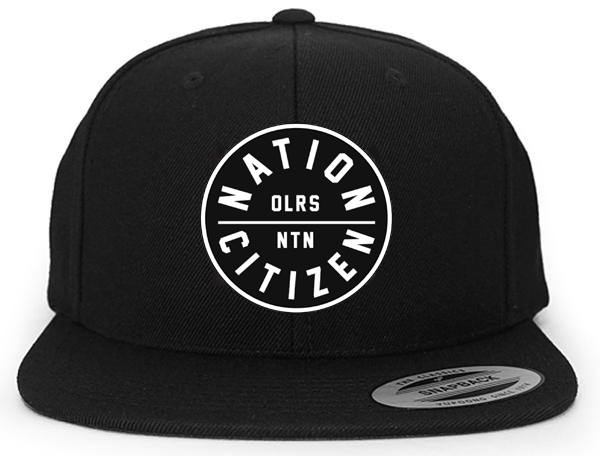 Nation Citizen Black Snapback