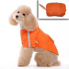 Pocket Rain Coat Orange