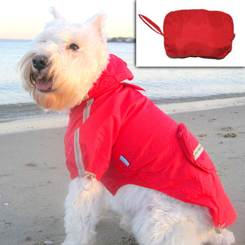 Pocket Rain Coat Red