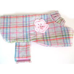 London Lady Plaid Coat Pink