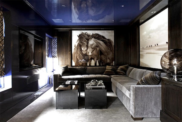 10 media room d cor ideas for the modern gentleman 212 for Man cave living room ideas