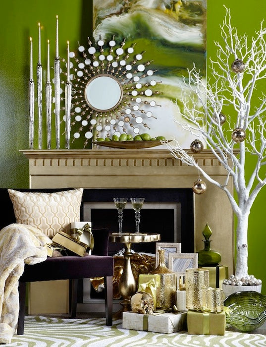 10 modern mantel holiday d cor ideas 212 concept - Modern christmas mantel ideas ...