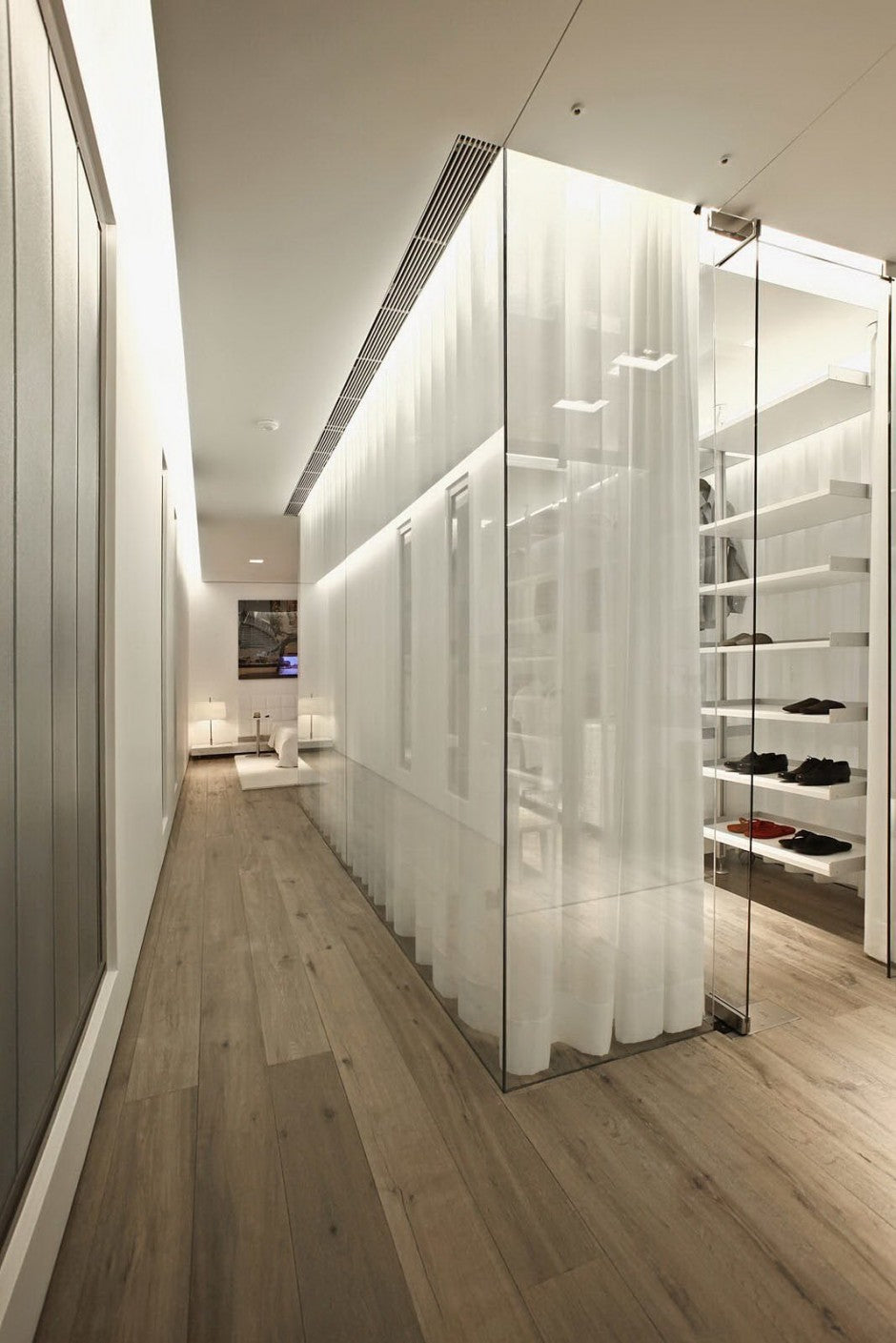 The use of natural and artificial lighting of the s house makes it a standout among other modern homes case in point is the walk in closet which has ample