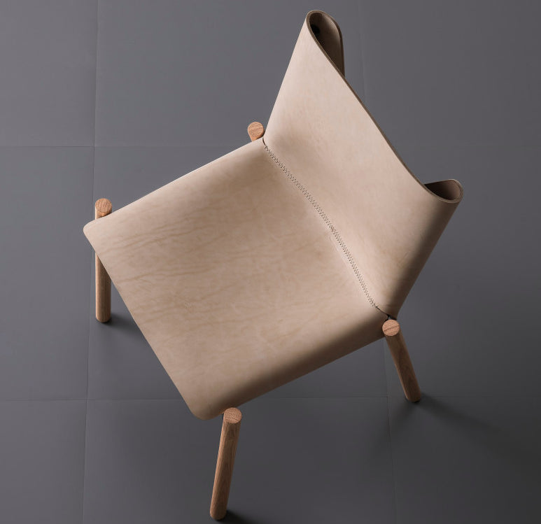 Buy Timeless Natural Hide Wood Leg Italian Chair | 212Concept