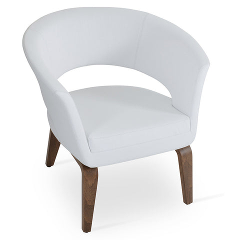 Buy Contemporary Curvy Wood Base Ada Lounge Chair | 212Concept