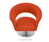 Buy Curvy Wide Round Swivel Base Lounge Chair | 212Concept