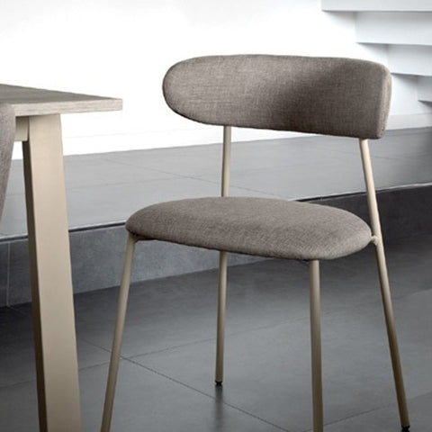 Buy Curved Back With Slender Steel Frame Side Chair | 212Concept