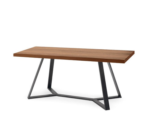 Buy Rectangular Bent Leg Walnut Top Table | 212Concept