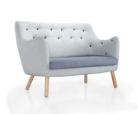 Buy Button Tufting Wood Legged Loveseat For Small Living Spaces | 212Concept