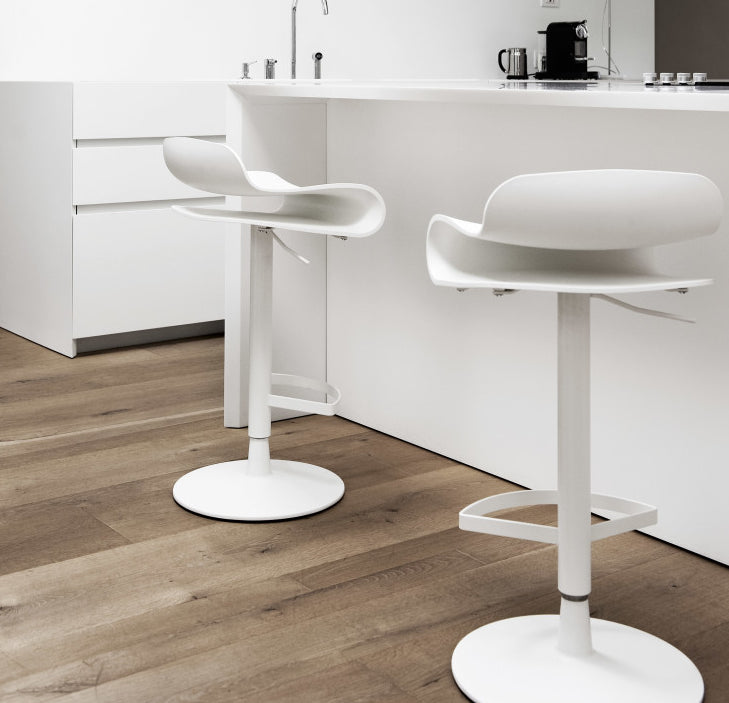 Buy Heat-Resistant Adjustable Height White Stool | 212Concept