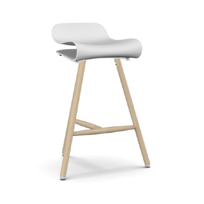 BCN Wood Base Counter Stool - Pack of 4