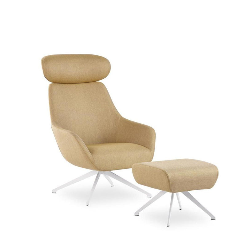 Lamy Swivel Metal Lounge Chair
