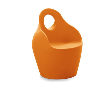 Baba Outdoor Armchair in Solid Orange