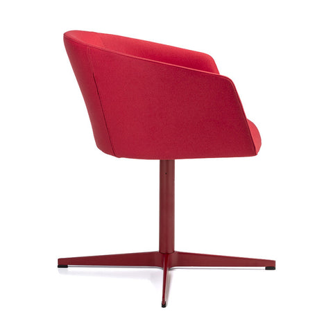 Buy Mid-Century Modern Swivel Red Armchair | 212Concept