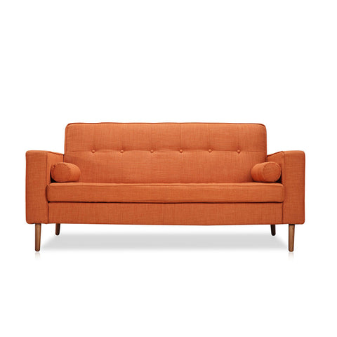Buy Mid-Century Modern Button Tufting Orange Sofa | 212Concept