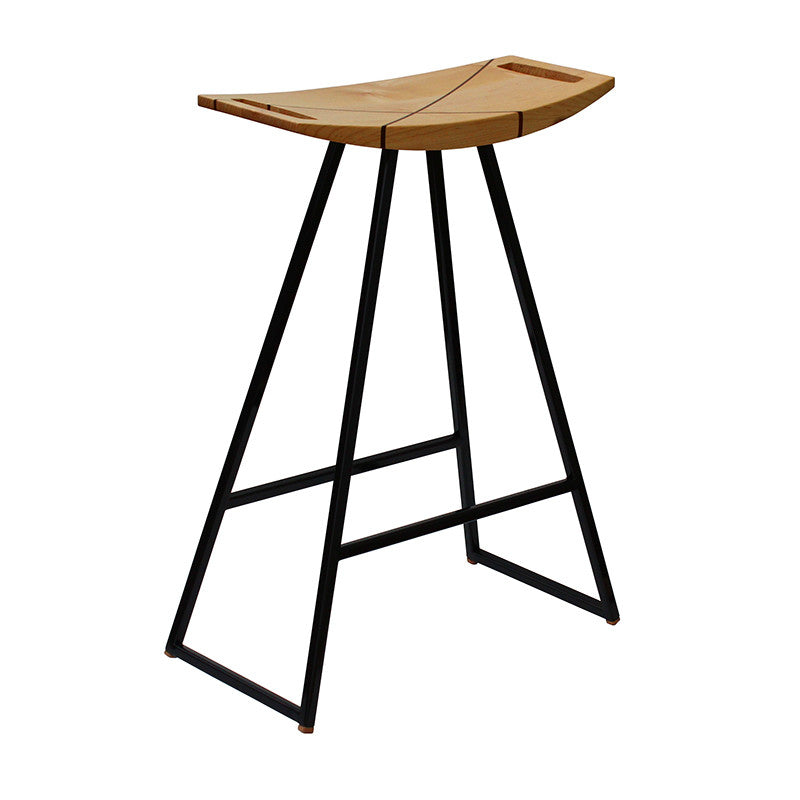 Contemporary wood stool