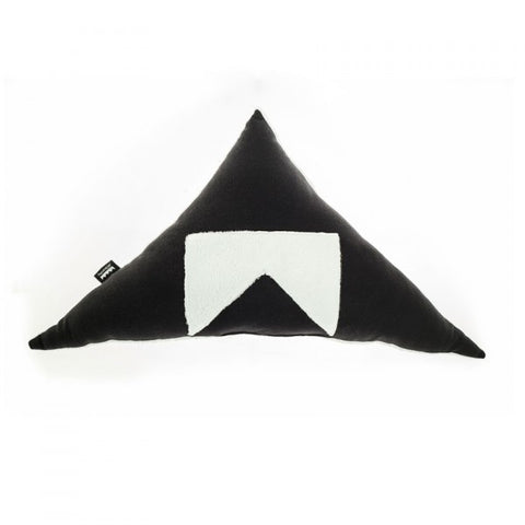 Modern Triangle Pillow in Black and white