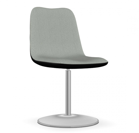 Buy Fully Rotatable Stainless Steel Round Base Swivel Chair | 212Concept