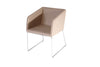 Buy Box Slide Armchair in Cream Leather | 212Concept