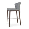 Buy Curvy Capri Stool With Wooden Legs | 212Concept