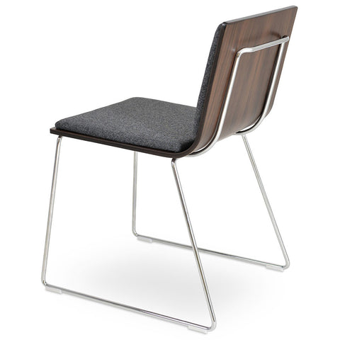 Buy Wood Shell Commercial Sled Base Corona Chair | 212Concept