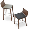 Buy Walnut Wood Frame Corona Stool With Seatpad | 212Concept