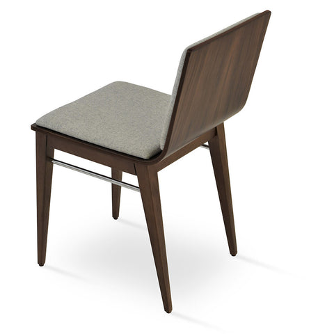Buy Plywood Shell Restaurant Chair With Leather Seatpad | 212Concept