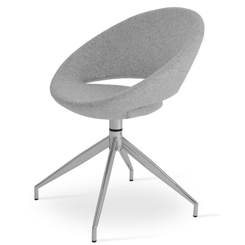 Buy Ample Seat Swivel Base Curvy Crescent Spider Chair | 212Concept