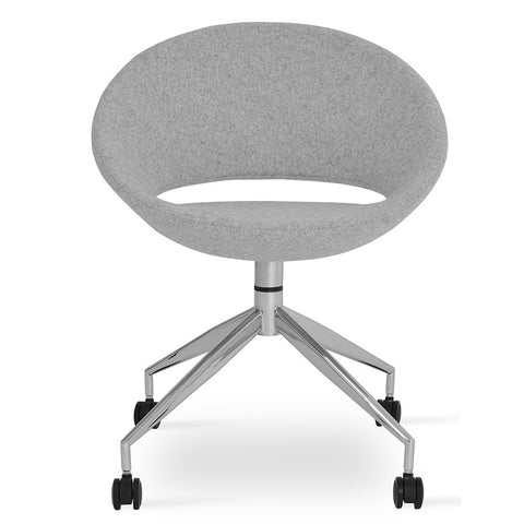 Buy Round Seat Spider 4-Legged Modern Crescent Task Chair   212Concept  sc 1 st  212 Concept & Modern Desk Chair   Cool Office Chairs   212Concept