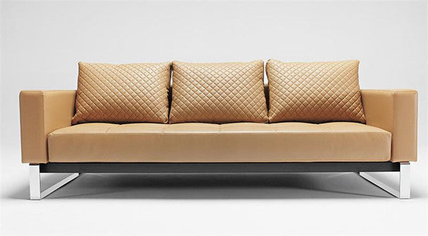 Buy Camel Leather Modern Sleeper Sofa By Innovation | 212Concept