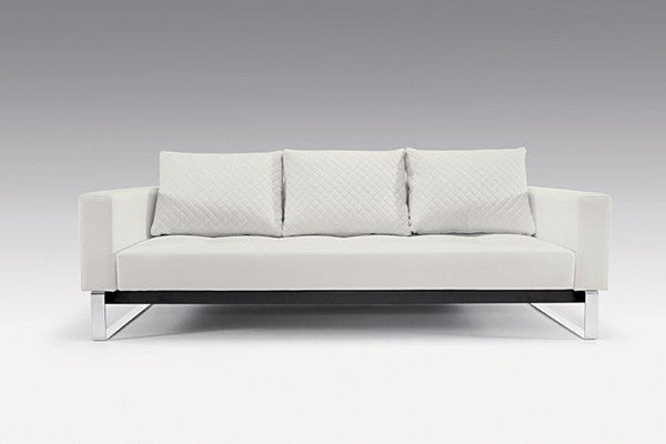 Buy White Leather Modern Sleeper Sofa By Innovation | 212Concept
